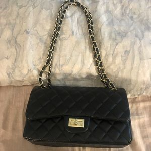 Quilted Leather Chain Bag